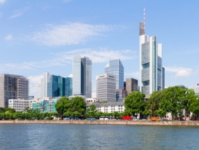 Business District in Frankfurt, Germany